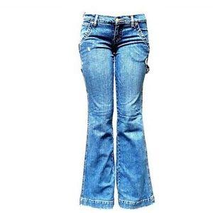 Women's Bootcut Stretch Blue Jeans Salina V-33858S